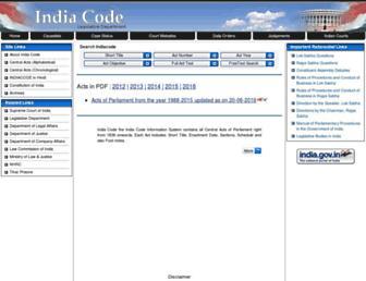 indiacode.nic.in screenshot