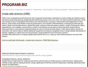 Main page screenshot of programi.biz