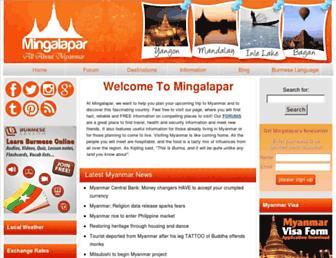 mingalapar.com screenshot