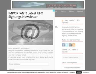Main page screenshot of latest-ufo-sightings.net