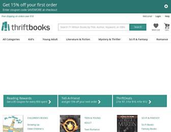 thriftbooks.com screenshot