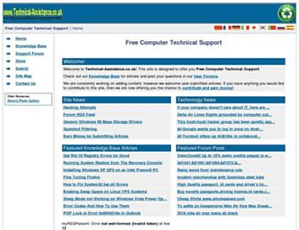 Main page screenshot of technical-assistance.co.uk