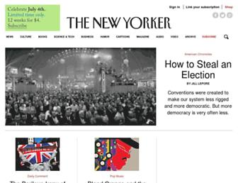 newyorker.com screenshot