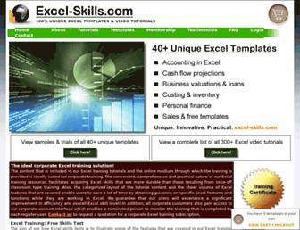 excel-skills.com screenshot