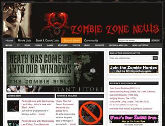 zombiezonenews.com screenshot