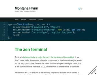 Main page screenshot of montanaflynn.me