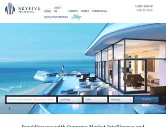 skyfiveproperties.com screenshot
