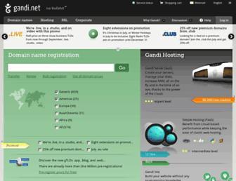 gandi.net screenshot
