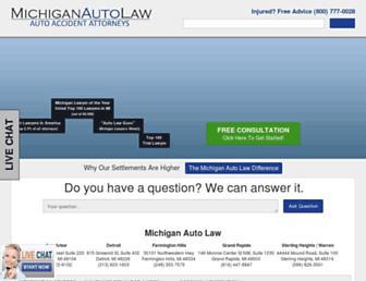 michiganautolaw.com screenshot