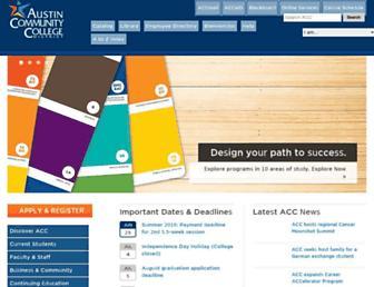 Main page screenshot of austincc.edu