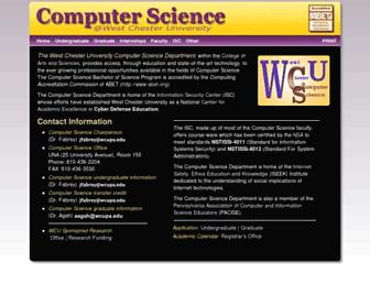 cs.wcupa.edu screenshot