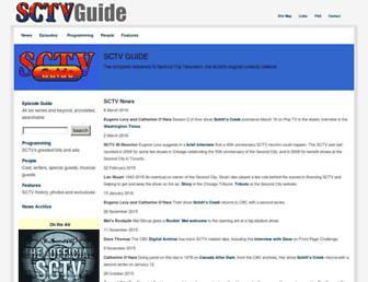 Main page screenshot of sctvguide.ca