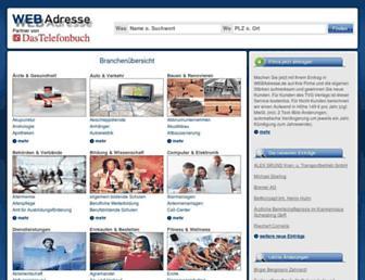 webadresse.de screenshot