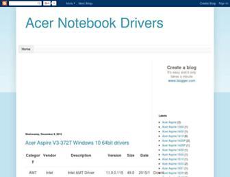 acer-notebook-drivers.blogspot.com screenshot