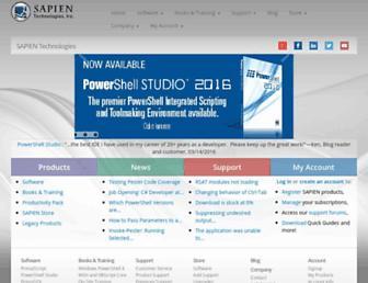 sapien.com screenshot