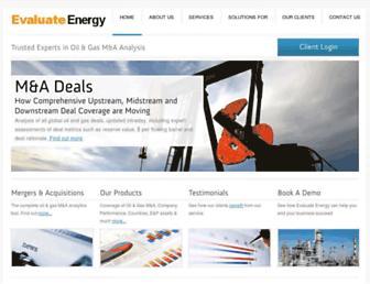 evaluateenergy.com screenshot