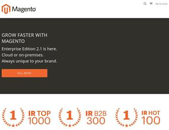 magento.com screenshot