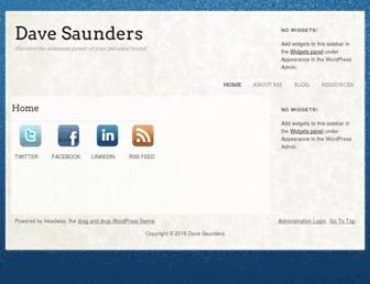 Main page screenshot of davesaunders.net