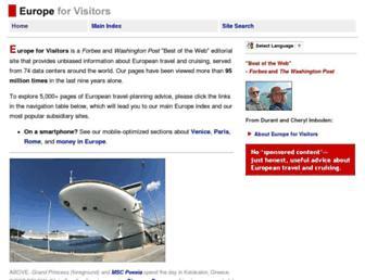 europeforvisitors.com screenshot