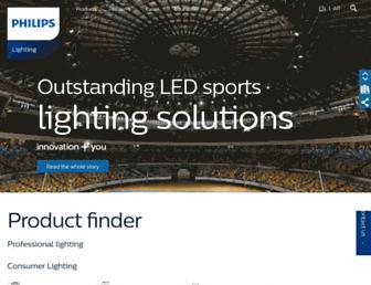 lighting.philips.com.eg screenshot