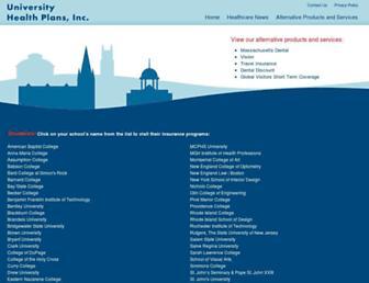 Thumbshot of Universityhealthplans.com