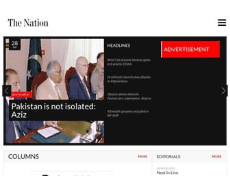 Main page screenshot of nation.com.pk