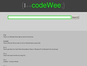 codewee.com screenshot