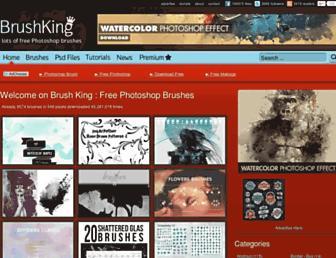 Main page screenshot of brushking.eu