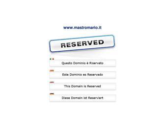 Main page screenshot of mastromario.it