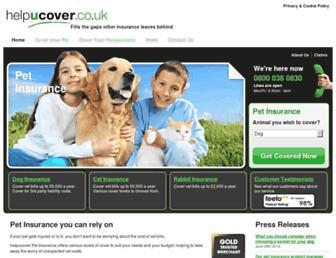 helpucover.co.uk screenshot