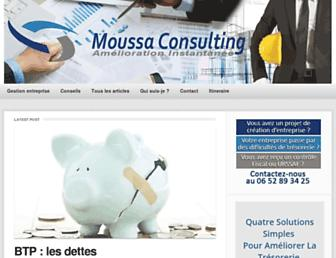 Main page screenshot of emarketing-co-operation.fr