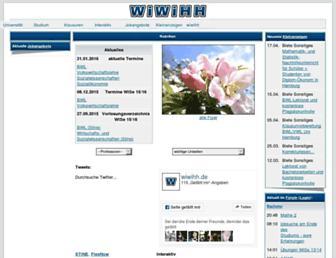 Main page screenshot of wiwihh.de
