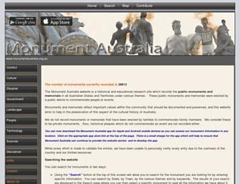 monumentaustralia.org.au screenshot