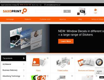 saxoprint.co.uk screenshot
