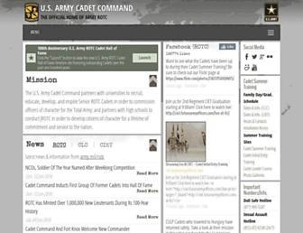 Main page screenshot of rotc.monroe.army.mil