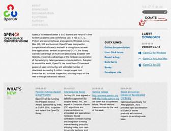 Fullscreen thumbnail of opencv.org