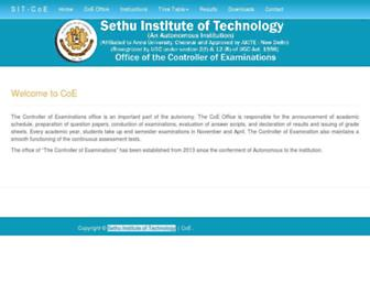 coe.sethu.ac.in screenshot