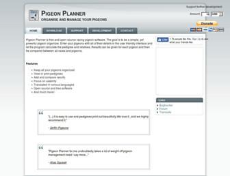 pigeonplanner.com screenshot