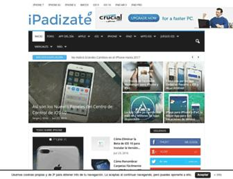 Main page screenshot of ipadizate.es