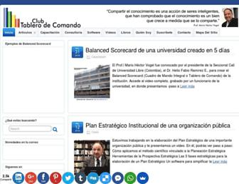 tablerodecomando.com screenshot