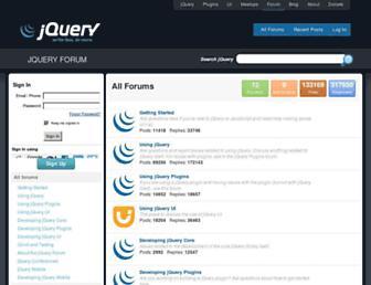 forum.jquery.com screenshot