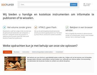docplayer.nl screenshot