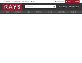 Screenshot for raysoutdoors.com.au