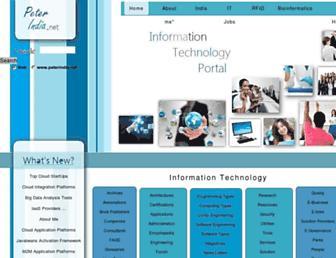Main page screenshot of peterindia.net