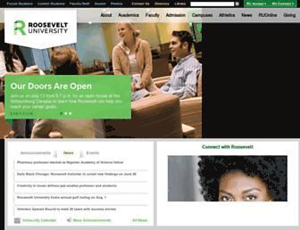 roosevelt.edu screenshot