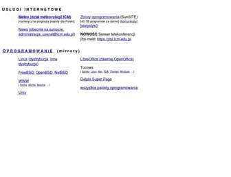 ftp.icm.edu.pl screenshot