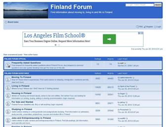 Main page screenshot of finlandforum.org
