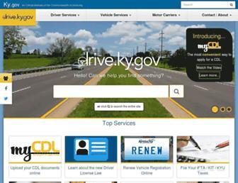 drive.ky.gov screenshot