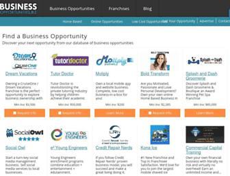 Main page screenshot of business-opportunities.biz