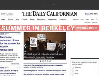 Main page screenshot of dailycal.org